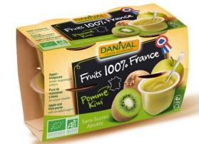 DANIVAL DESSERT POMME KIWI 4*110G FRANCE