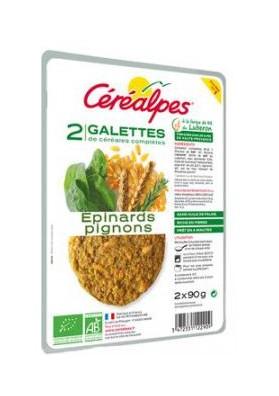 CEREALPES GALETTE EPINARDS PIGNONS 2*90G