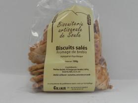 Biscuits salés au fromage de brebis Okina 100g