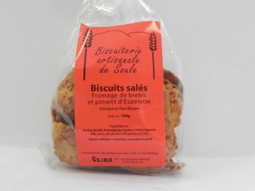 Biscuits salés au fromage de brebis et piment d'Espelette Okina 100g