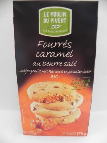 Cookies fourrés caramel beurre salé Le Moulin du Pivert 175g