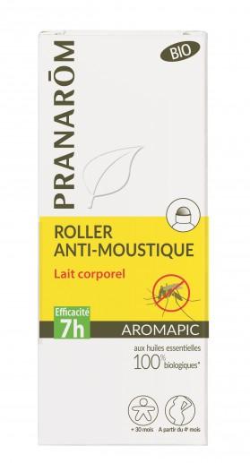 Lait corporel prévention moustiques Aromapic roller 75 mL