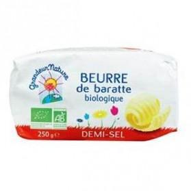Beurre de baratte moule ½ sel 250g Grandeur Nature