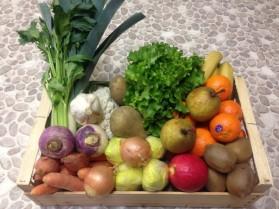 Panier de fruits et légumes bio de saison