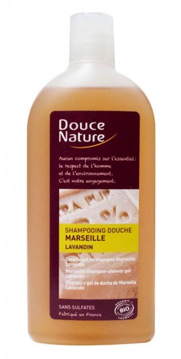 Shampoing douche au savon de Marseille Douce nature 300mL