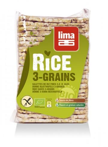 Lima Galettes de riz 3 céréales fines