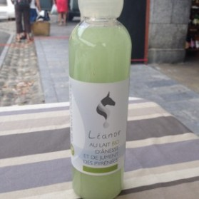 Leanor gel douche lait d'anesse et lait de jument bio verveine citron 250ml