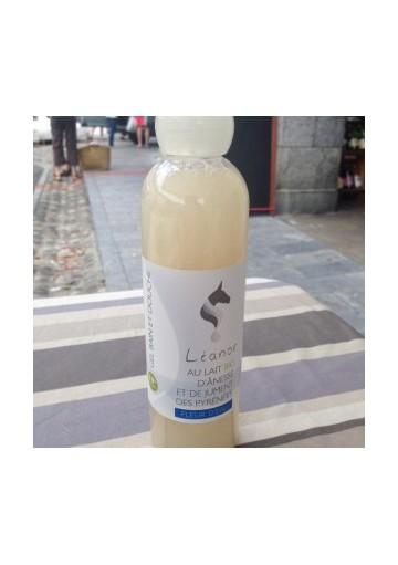Leanor gel douche lait d'anesse et lait de jument bio fleur d'eau 250 mL