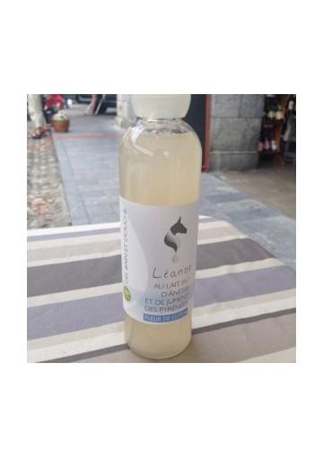 Leanor gel douche lait d'anesse et lait de jument bio fleur de coton 250 mL