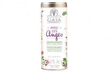 Thé blanc Avec les Anges tube 50g - Les jardins de Gaia
