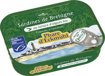PHARE D'ECKMULH SARDINE AU TARTARE D'ALG