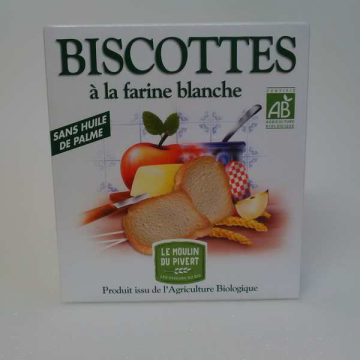 MOULIN DU PIVERT BISCOTTES BLANCHES SS S