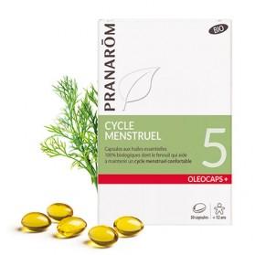 PRANAROM OLEOCAPS 5 CYCLE MENSTRUEL BIO 30 CAPSULES